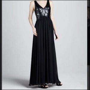 Aiden Mattox leather top gown size 4